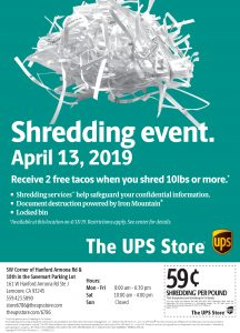 UPS Shredding Event – City of Lemoore